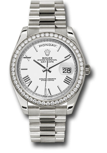 Rolex Watches - Day-Date 40 White Gold - Diamond Bezel - Style No: 228349RBR wrp