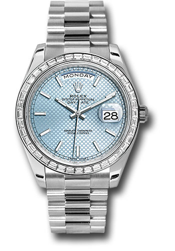 Rolex Watches - Day-Date 40 Platinum - Diamond Bezel - Style No: 228396TBR ibdmip