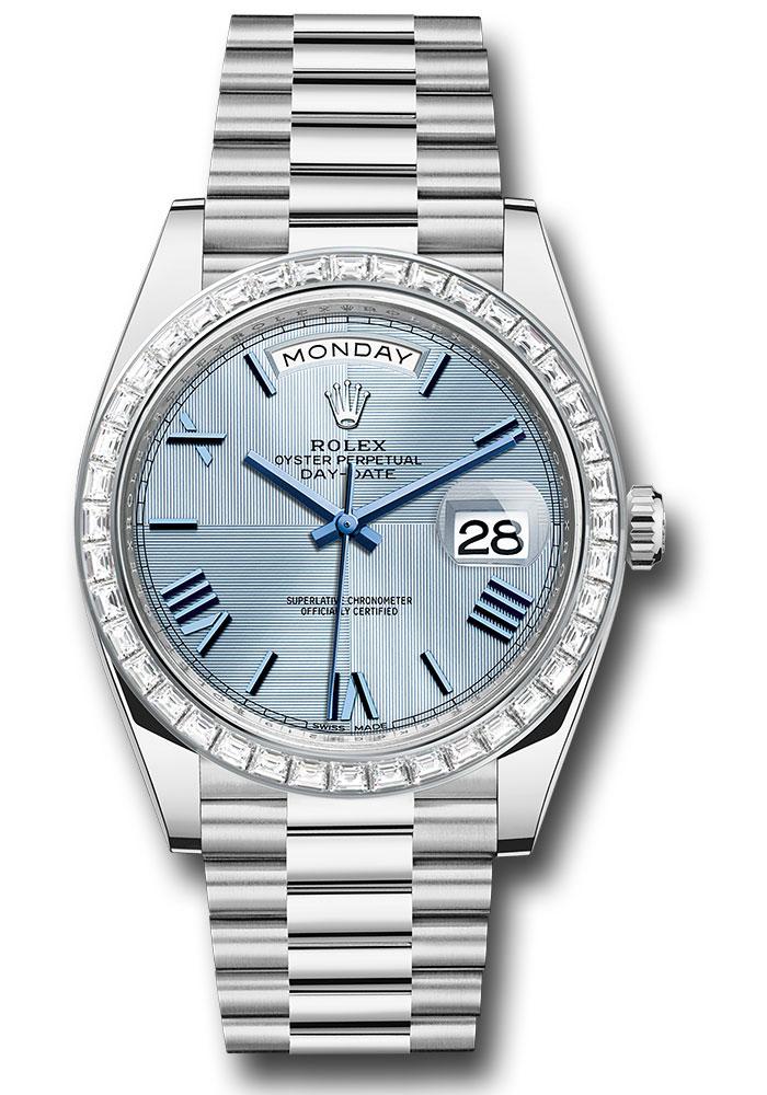 Rolex 228396tbr Ibqmrp Day Date 40 Platinum Diamond Bezel