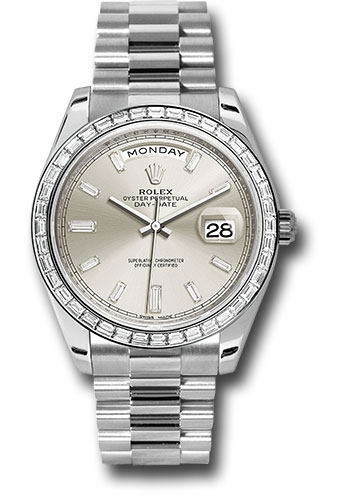 Rolex Watches - Day-Date 40 Platinum - Diamond Bezel - Style No: 228396TBR sbdp