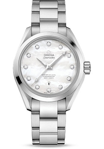 Omega Watches - Seamaster Aqua Terra 150 M Master Co-Axial 34 mm - Stainless Steel - Style No: 231.10.34.20.55.002