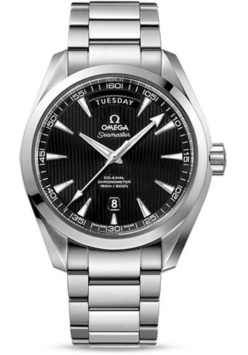 Omega Watches - Seamaster Aqua Terra 150 M Co-Axial Day-Date 41.5 mm - Stainless Steel - Style No: 231.10.42.22.01.001