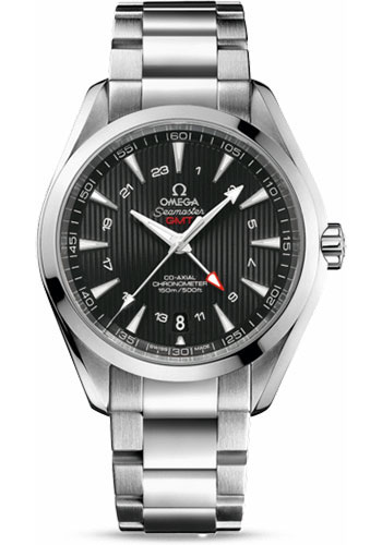 Omega Watches - Seamaster Aqua Terra 150 M Co-Axial GMT 43 mm - Stainless Steel - Style No: 231.10.43.22.01.001
