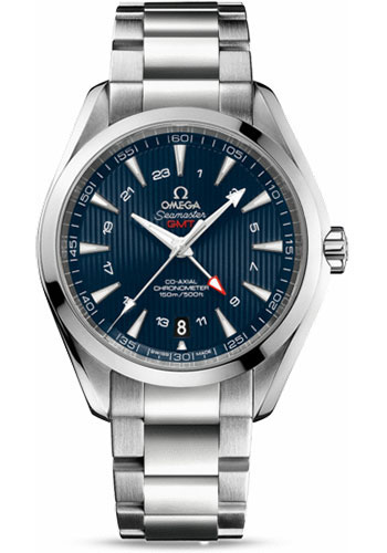 Omega Watches - Seamaster Aqua Terra 150 M Co-Axial GMT 43 mm - Stainless Steel - Style No: 231.10.43.22.03.001
