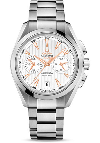 Omega Watches - Seamaster Aqua Terra 150 M Co-Axial GMT Chronograph 43 mm - Stainless Steel - Style No: 231.10.43.52.02.001