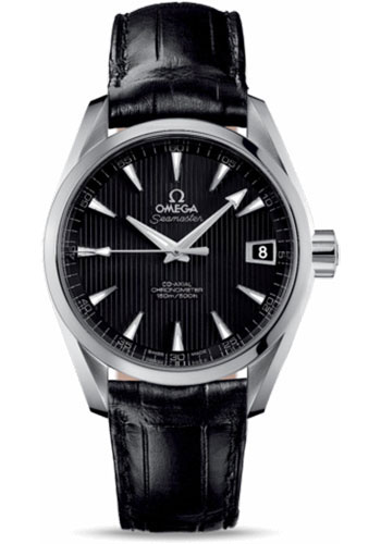 Omega Watches - Seamaster Aqua Terra 150 M Co-Axial 38.5 mm - Stainless Steel - Leather Strap - Style No: 231.13.39.21.01.001