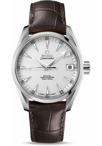 Omega Watches - Seamaster Aqua Terra Chronometer 38.5 mm Stainless Steel On Leather - Style No: 231.13.39.21.02.001