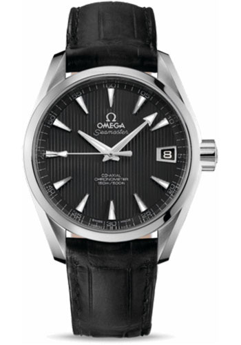 Omega Watches - Seamaster Aqua Terra Chronometer 38.5 mm Stainless Steel On Leather - Style No: 231.13.39.21.06.001