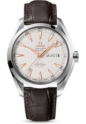 Omega Watches - Seamaster Aqua Terra 150 M Co-Axial Annual Calendar 43 mm - Stainless Steel - Style No: 231.13.43.22.02.003