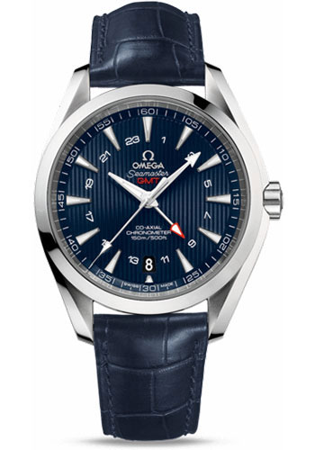 Omega Watches - Seamaster Aqua Terra 150 M Co-Axial GMT 43 mm - Stainless Steel - Style No: 231.13.43.22.03.001