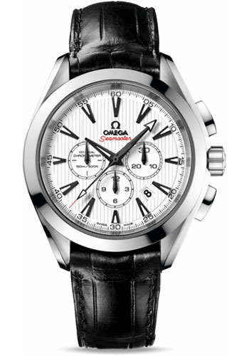 Omega Watches - Seamaster Aqua Terra 150 M Co-Axial Chronograph 44 mm - Stainless Steel - Leather Strap - Style No: 231.13.44.50.04.001