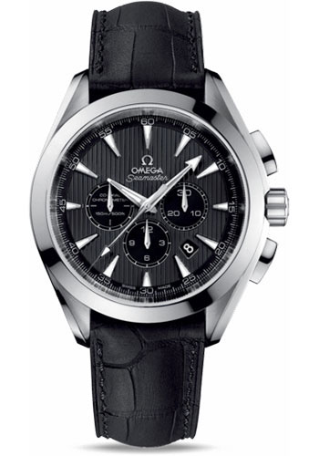 Omega Watches - Seamaster Aqua Terra 150 M Co-Axial Chronograph 44 mm - Stainless Steel - Leather Strap - Style No: 231.13.44.50.06.001