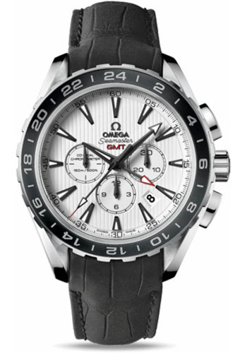 Omega Watches - Seamaster Aqua Terra 150 M Co-Axial Chronograph 44 mm - Stainless Steel - Leather Strap - Style No: 231.13.44.52.04.001