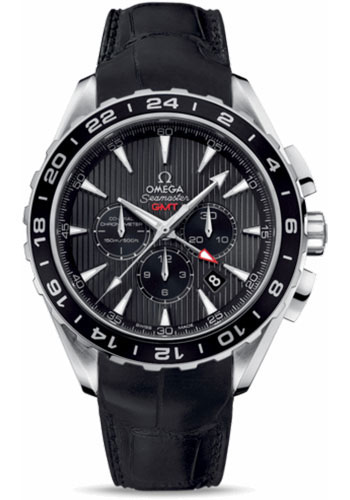 Omega Watches - Seamaster Aqua Terra 150 M Co-Axial Chronograph 44 mm - Stainless Steel - Leather Strap - Style No: 231.13.44.52.06.001
