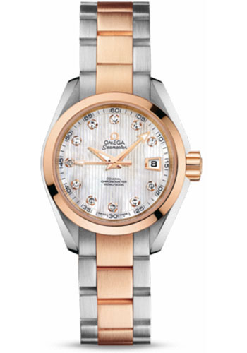 Omega Watches - Seamaster Aqua Terra 150 M Co-Axial 30 mm - Steel And Red Gold - Style No: 231.20.30.20.55.001