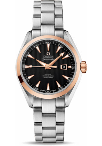 Omega Watches - Seamaster Aqua Terra 150 M Co-Axial 34 mm - Steel And Red Gold - Style No: 231.20.34.20.01.003