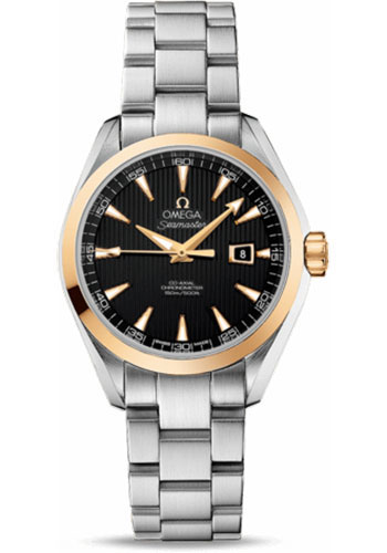 Omega Watches - Seamaster Aqua Terra 150 M Co-Axial 34 mm - Steel And Yellow Gold - Style No: 231.20.34.20.01.004