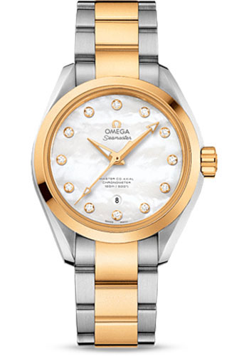 Omega Watches - Seamaster Aqua Terra 150 M Master Co-Axial 34 mm - Steel And Yellow Gold - Style No: 231.20.34.20.55.002