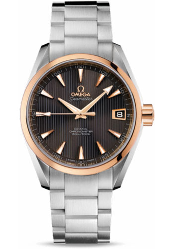 Omega Watches - Seamaster Aqua Terra 150 M Co-Axial 38.5 mm - Steel And Red Gold - Style No: 231.20.39.21.06.003
