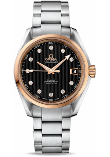 Omega Watches - Seamaster Aqua Terra 150 M Co-Axial 38.5 mm - Steel And Red Gold - Style No: 231.20.39.21.51.003