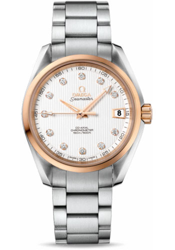 Omega Watches - Seamaster Aqua Terra 150 M Co-Axial 38.5 mm - Steel And Red Gold - Style No: 231.20.39.21.52.003
