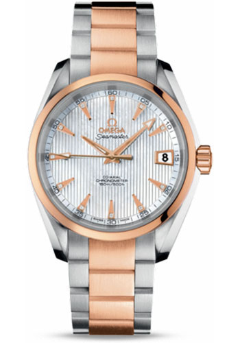 Omega Watches - Seamaster Aqua Terra 150 M Co-Axial 38.5 mm - Steel And Red Gold - Style No: 231.20.39.21.55.001