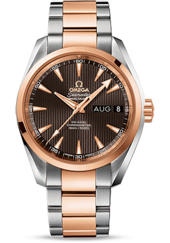 Omega Watches - Seamaster Aqua Terra 150 M Co-Axial Annual Calendar 38.5 mm - Steel And Red Gold - Style No: 231.20.39.22.06.001