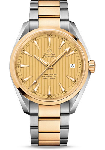 Omega Watches - Seamaster Aqua Terra 150 M Master Co-Axial 41.5 mm - Steel and Yellow Gold - Style No: 231.20.42.21.08.001