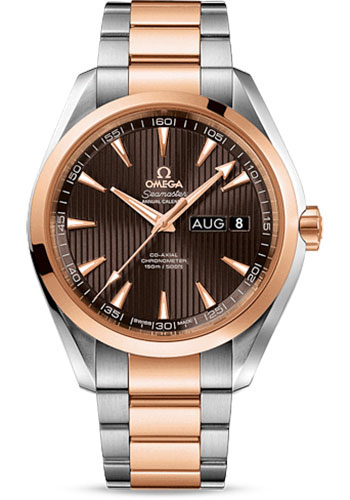 Omega Watches - Seamaster Aqua Terra 150 M Co-Axial Annual Calendar 43 mm - Steel And Red Gold - Style No: 231.20.43.22.06.002