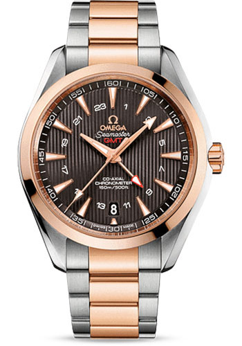 Omega Watches - Seamaster Aqua Terra 150 M Co-Axial GMT 43 mm - Steel And Red Gold - Style No: 231.20.43.22.06.003