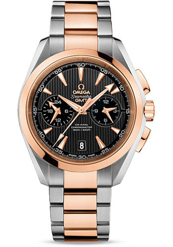 Omega Watches - Seamaster Aqua Terra 150 M Co-Axial GMT Chronograph 43 mm - Steel And Red Gold - Style No: 231.20.43.52.06.001