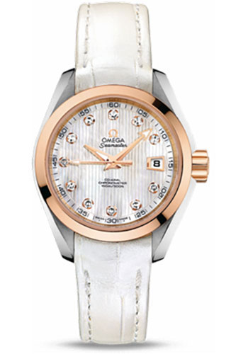 Omega Watches - Seamaster Aqua Terra 150 M Co-Axial 30 mm - Steel And Red Gold - Style No: 231.23.30.20.55.001