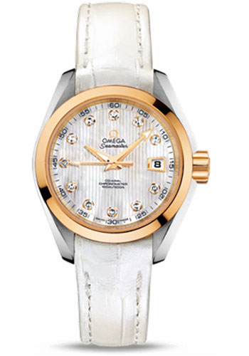 Omega Watches - Seamaster Aqua Terra 150 M Co-Axial 30 mm - Steel And Yellow Gold - Style No: 231.23.30.20.55.002