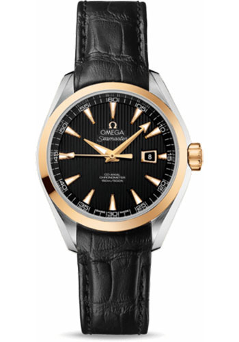 Omega Watches - Seamaster Aqua Terra 150 M Co-Axial 34 mm - Steel And Yellow Gold - Style No: 231.23.34.20.01.001