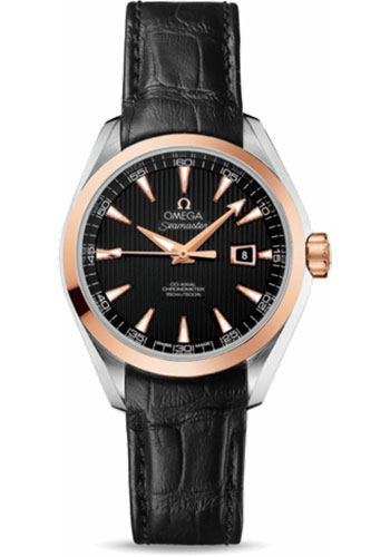 Omega Watches - Seamaster Aqua Terra 150 M Co-Axial 34 mm - Steel And Red Gold - Style No: 231.23.34.20.01.002