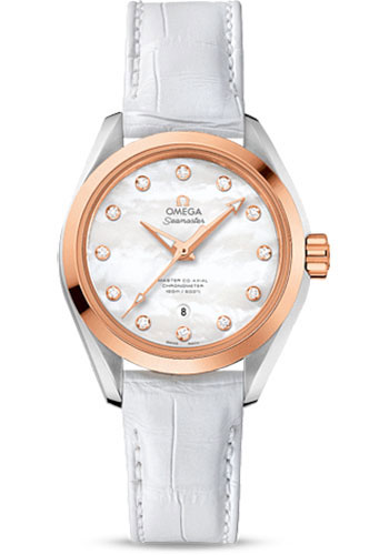Omega Watches - Seamaster Aqua Terra 150 M Master Co-Axial 34 mm - Steel And Sedna Gold - Style No: 231.23.34.20.55.001