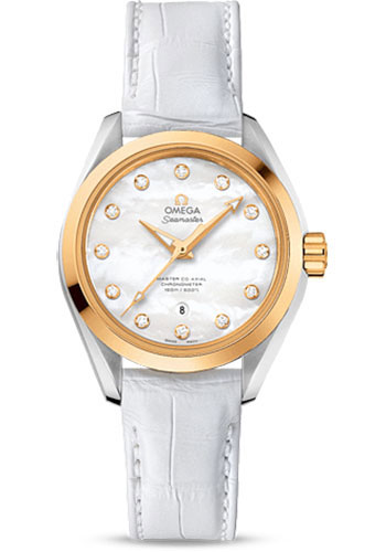 Omega Watches - Seamaster Aqua Terra 150 M Master Co-Axial 34 mm - Steel And Yellow Gold - Style No: 231.23.34.20.55.002