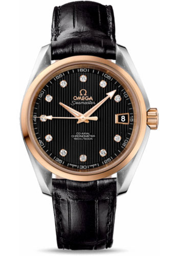 Omega Watches - Seamaster Aqua Terra 150 M Co-Axial 38.5 mm - Steel And Red Gold - Style No: 231.23.39.21.51.001