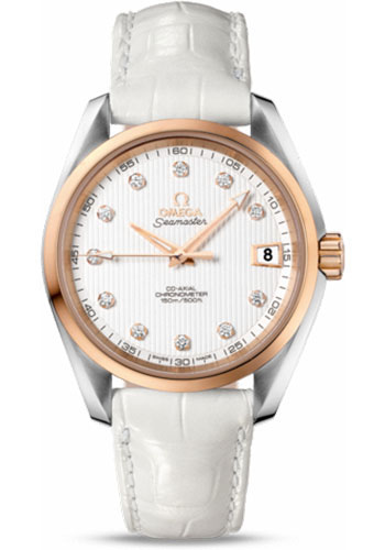 Omega Watches - Seamaster Aqua Terra 150 M Co-Axial 38.5 mm - Steel And Red Gold - Style No: 231.23.39.21.52.001