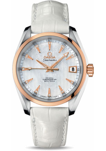 Omega Watches - Seamaster Aqua Terra 150 M Co-Axial 38.5 mm - Steel And Red Gold - Style No: 231.23.39.21.55.001