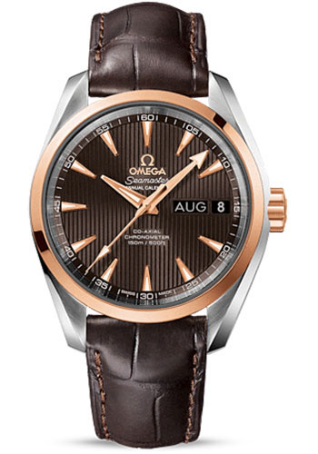 Omega Watches - Seamaster Aqua Terra 150 M Co-Axial Annual Calendar 38.5 mm - Steel And Red Gold - Style No: 231.23.39.22.06.001