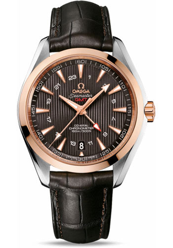Omega Watches - Seamaster Aqua Terra 150 M Co-Axial GMT 43 mm - Steel And Red Gold - Style No: 231.23.43.22.06.001