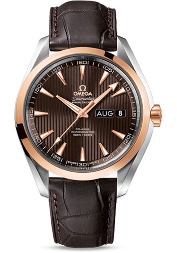 Omega Watches - Seamaster Aqua Terra 150 M Co-Axial Annual Calendar 43 mm - Steel And Red Gold - Style No: 231.23.43.22.06.002