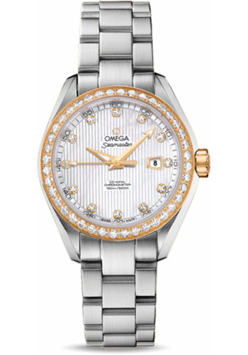Omega Watches - Seamaster Aqua Terra 150 M Co-Axial 34 mm - Steel And Yellow Gold - Style No: 231.25.34.20.55.004