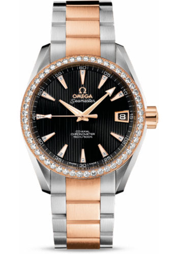 Omega Watches - Seamaster Aqua Terra 150 M Co-Axial 38.5 mm - Steel And Red Gold - Style No: 231.25.39.21.51.001