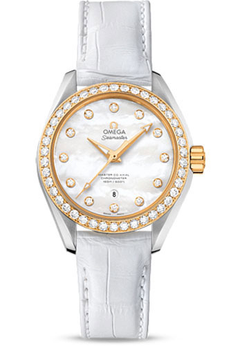 Omega Watches - Seamaster Aqua Terra 150M Master Co-Axial 34 mm - Steel And Yellow Gold - Style No: 231.28.34.20.55.004