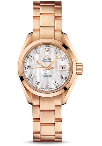 Omega Watches - Seamaster Aqua Terra 150 M Co-Axial 30 mm - Red Gold - Style No: 231.50.30.20.55.001