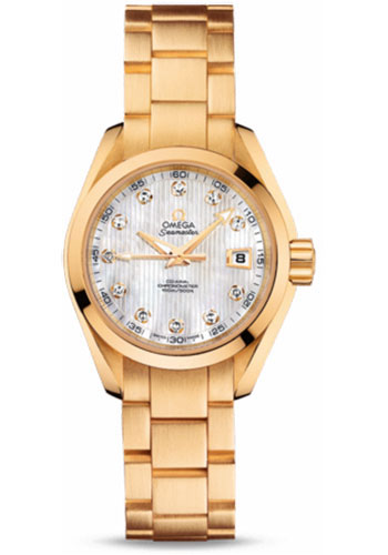 Omega Watches - Seamaster Aqua Terra 150 M Co-Axial 30 mm - Yellow Gold - Style No: 231.50.30.20.55.002