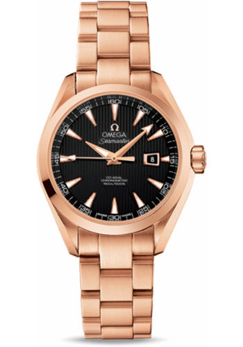 Omega Watches - Seamaster Aqua Terra 150 M Co-Axial 34 mm - Red Gold - Style No: 231.50.34.20.01.002