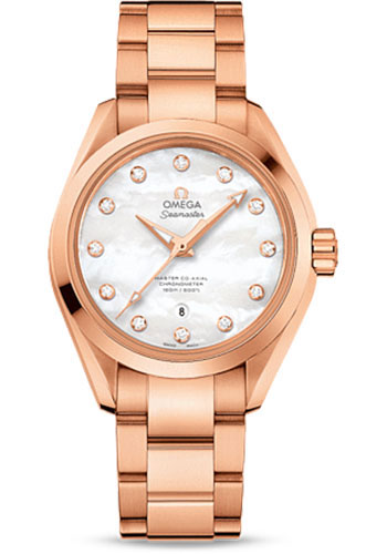 Omega Watches - Seamaster Aqua Terra 150 M Master Co-Axial 34 mm - Sedna Gold - Style No: 231.50.34.20.55.001